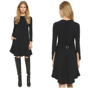 A.L.C. Lorde Crepe Flare Dress Black
